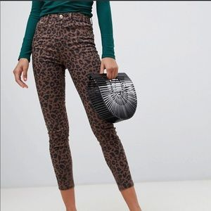 Stradivarius (ASOS) Animal Print Jeggings